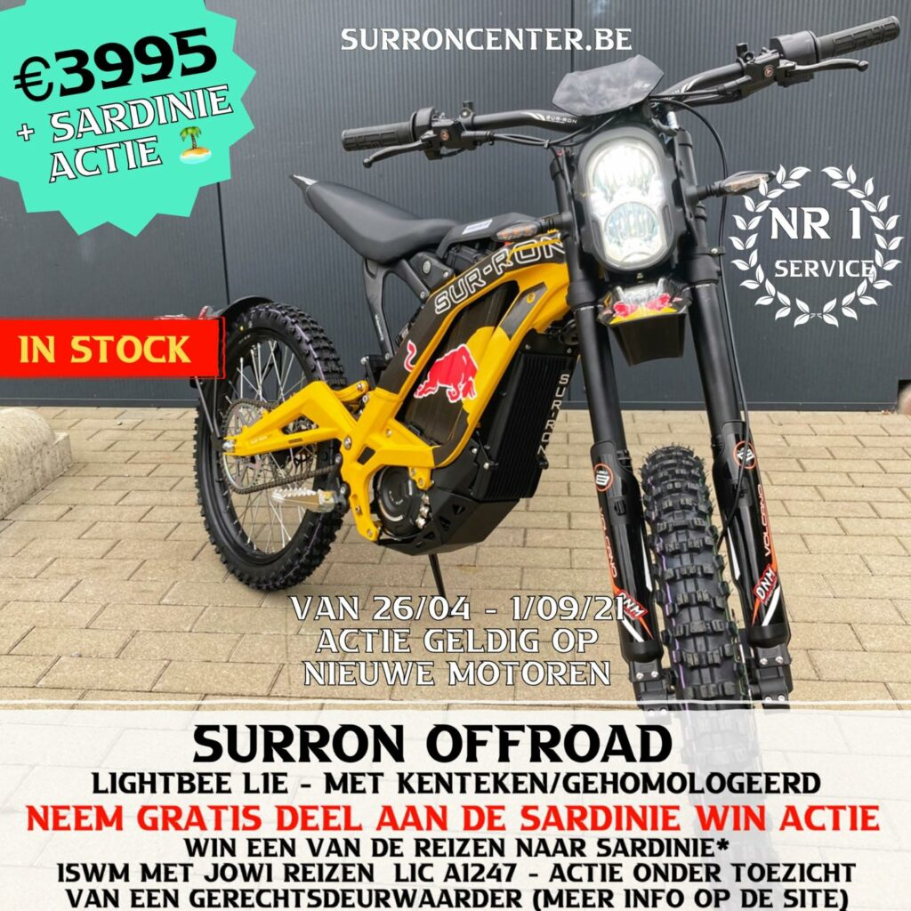 Surroncenter.be Te koop Surron Surronspecialist geel 1 redbull